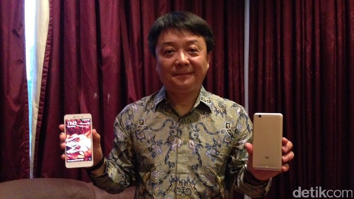 Foto: Senior Vice President Xiaomi, Xiang Wang (detikINET/Agus Tri Haryanto)