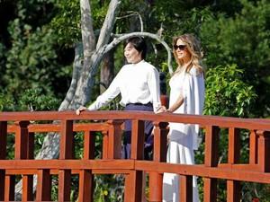 Gaya Beda Melania Trump Kala Menjamu Istri PM Jepang