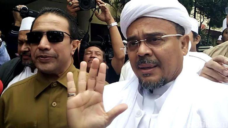 Tim KJRI Dampingi Habib Rizieq Saat Diperiksa Soal Bendera ISIS