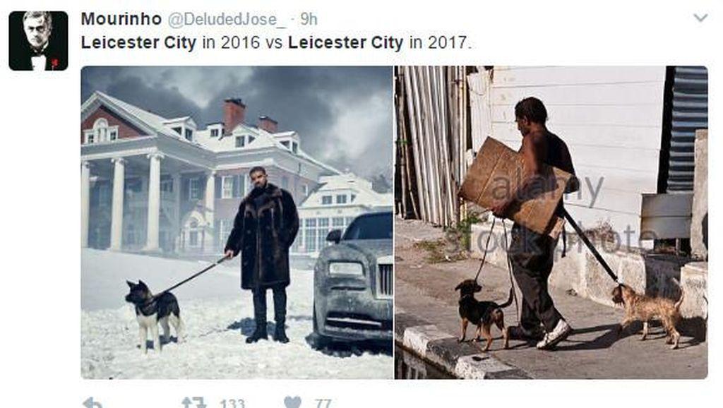 Meme Kocak Warnai Nasib Malang Leicester City