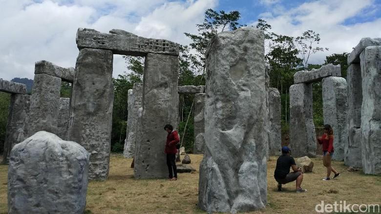 Stonehenge versi Sleman di lereng Gunung Merapi (Sukma/detikTravel)