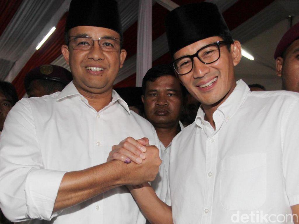Anies-Sandi Hadiri Pertemuan Gerindra di Rumah Prabowo
