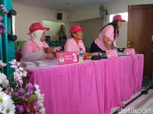 TPS Hari Kasih Suara di Yogya: Semua Serba Merah Muda