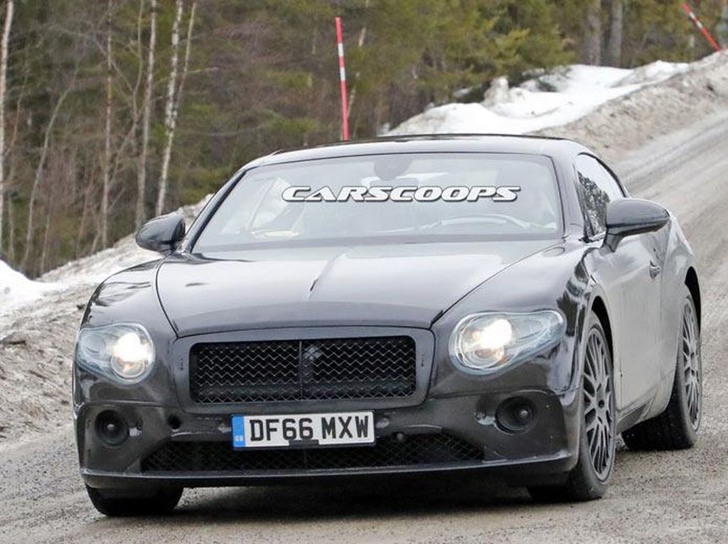 Bentley Uji 2 Tipe Continental di Musim Dingin
