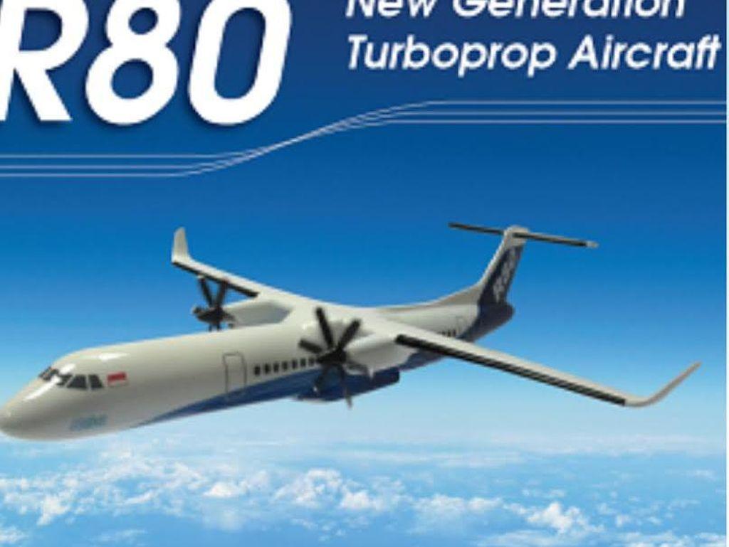 Masuk Proyek Strategis, Pesawat R80 Lebih Mudah Dapat Investor