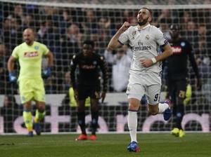 Persentase Gol Benzema di Liga Champions Kini Lewati Ronaldo