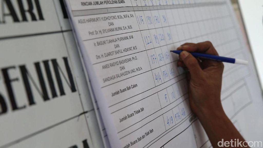 Rekapitulasi Suara Pilkada DKI di Kecamatan