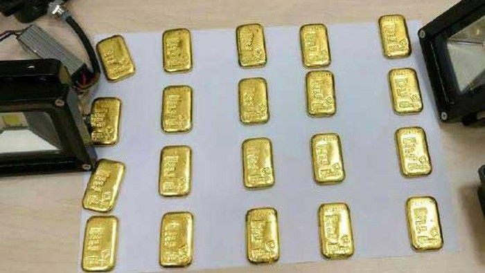 Batangan emas yang disembunyikan