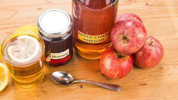 ilustrasi cuka apel/