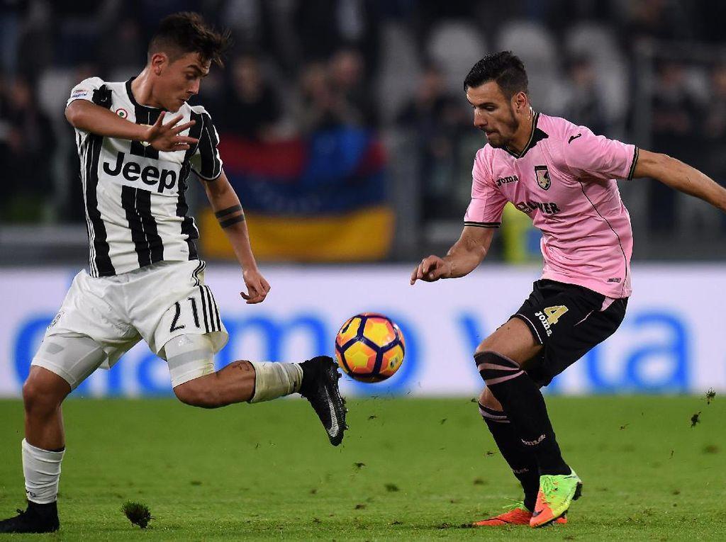 Dybala Dua Gol, Juventus Gasak Palermo 4-1