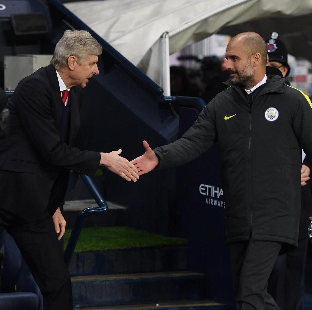 Catatan Head-to-Head: Guardiola Masih Unggul atas Wenger