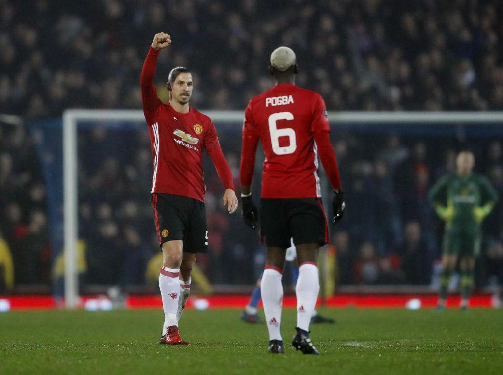 Rashford dan Ibrahimovic Loloskan MU ke Babak Delapan Besar