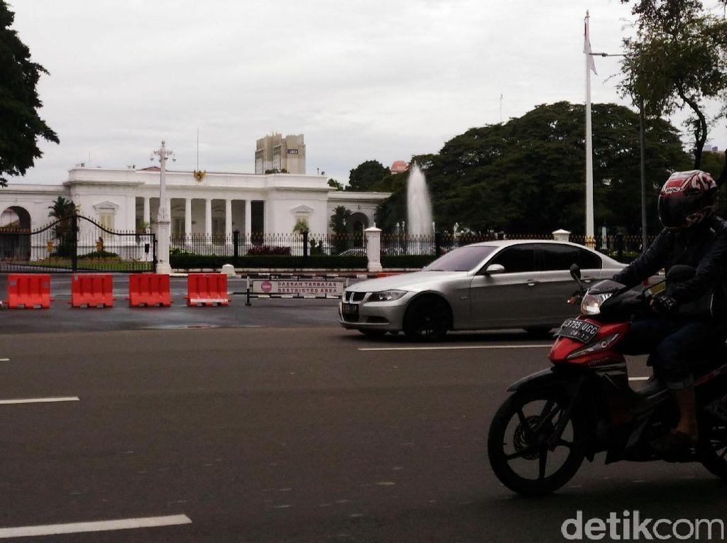 Polisi Filter Kendaraan di Sekitar Istana, 59 Motor Knalpot Bising Ditindak