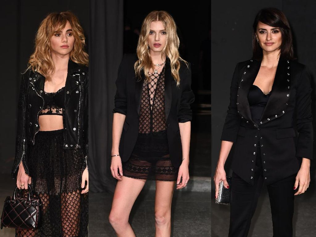 Sexy in Black ! Suki Waterhouse, Lily Donaldson dan Penelope Cruz