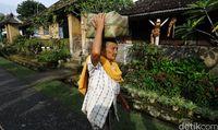 Desa Penglipuran yang masyarakatnya masih menjaga nilai-nilai kebudayaan Bali (Dikhy Sasra/detikFoto)