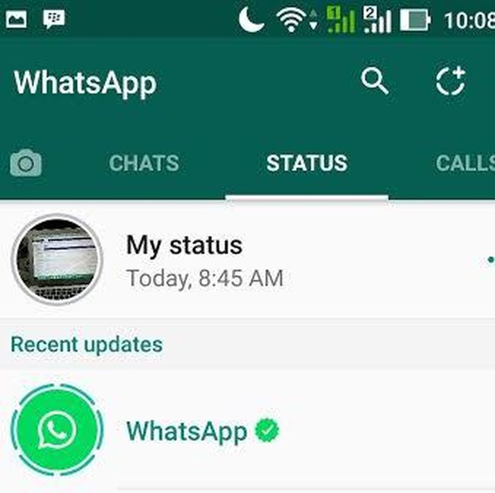 WhatsApp Belum Pede