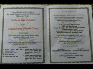 Pernikahan Titisan Nyi Roro Kidul dan Panglima Burung Adat Dayak