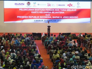 Luncurkan Voucher Pangan, Jokowi: Bukan untuk Beli Rokok dan Pulsa