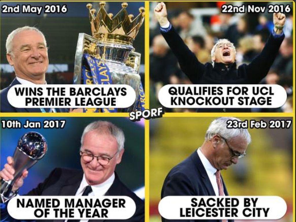 Ranieri Dipecat, Wenger Kok Tidak?