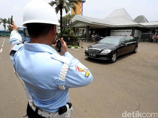 Simulasi Pengamanan Kedatangan Raja Salman di Bandara Halim