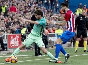 Atletico Versus Barca Sementara Masih Tanpa Gol