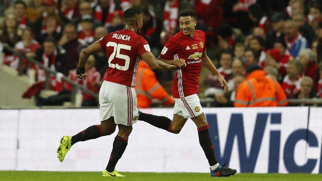 Lingard Si Spesialis Pencetak Gol di Wembley