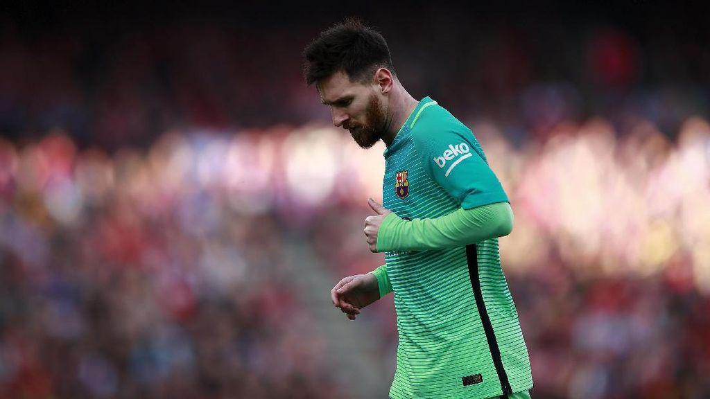 Kemenangan ke-400 Messi dan Hobinya Bobol Gawang Atletico