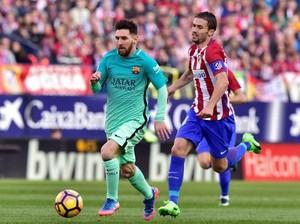 Kalahkan Atletico, Barca Sementara Gusur Madrid