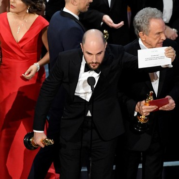 Best Picture Oscar 2017 La La Land, Ups! Moonlight