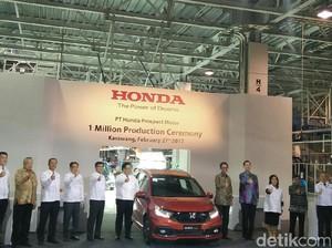 Produksi Honda Capai 1 Juta Unit, Jazz dan Mobilio Mendominasi