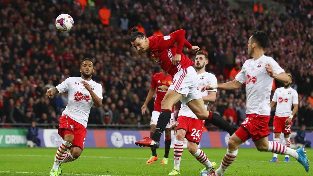 Semangat Juang Southampton Dihentikan Sihir Ibrahimovic