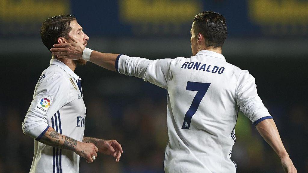 Pique Sindir Penalti Madrid, Ramos Membalas