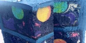 Ketika Dipotong, Cake Ini Bergambar Galaksi!