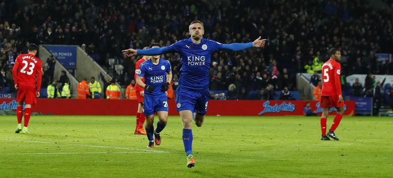 Leicester Bungkam Liverpool 3-1 Lewat Jamie Vardy