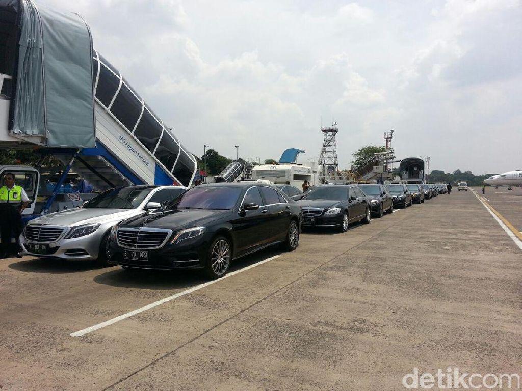 Mobil Mewah Penjemput Rombongan Raja Salman