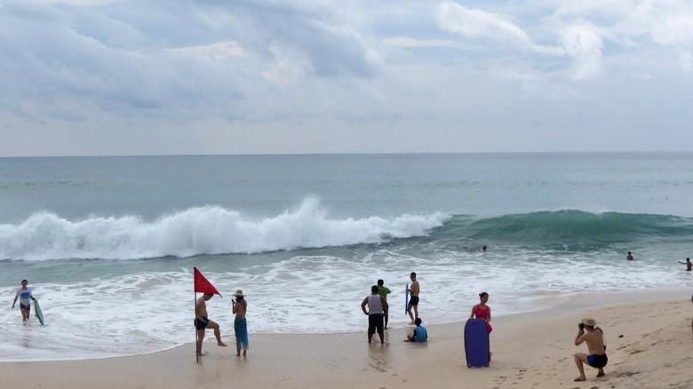 Turis di Pantai Pandawa, Bali (Afif Farhan/detikTravel)