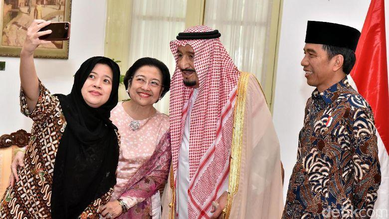 Ketika Raja Salman, Megawati dan Puan Wefie