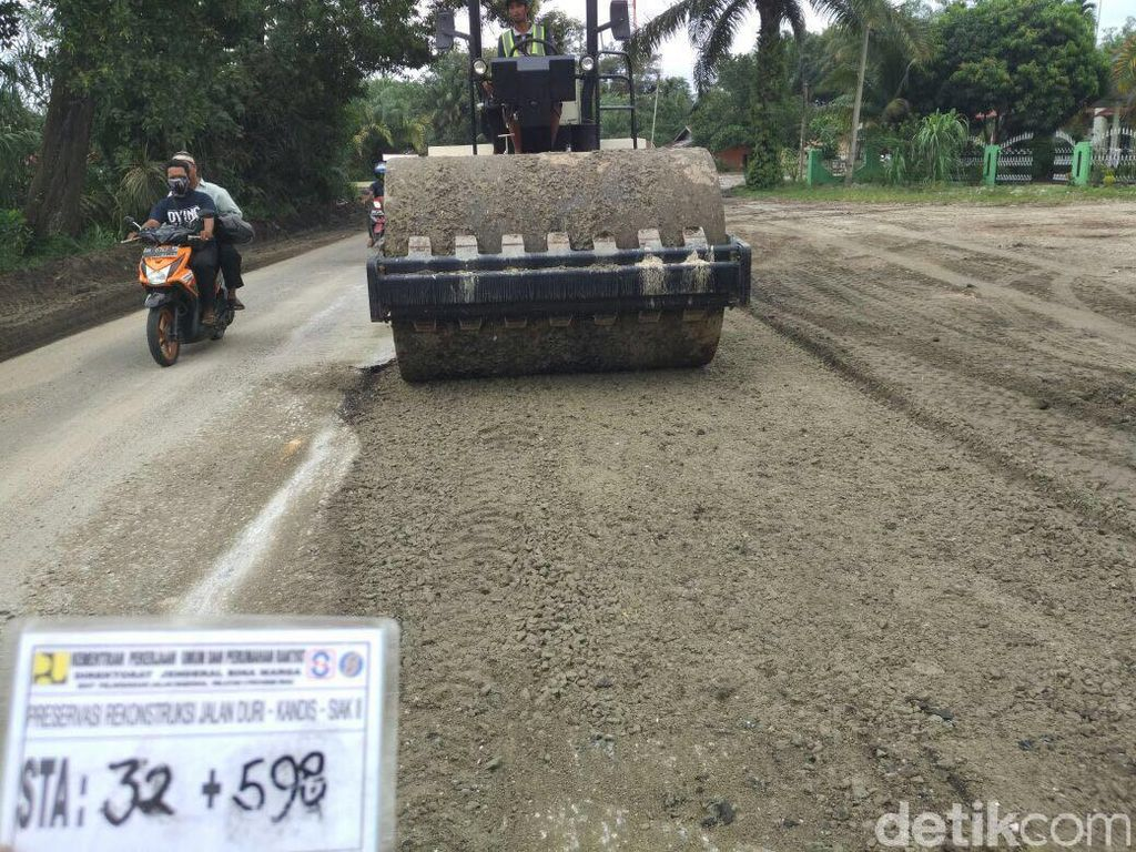 Perbaikan Jalan Lintas Timur Palembang-Jambi Selesai H-4 Lebaran