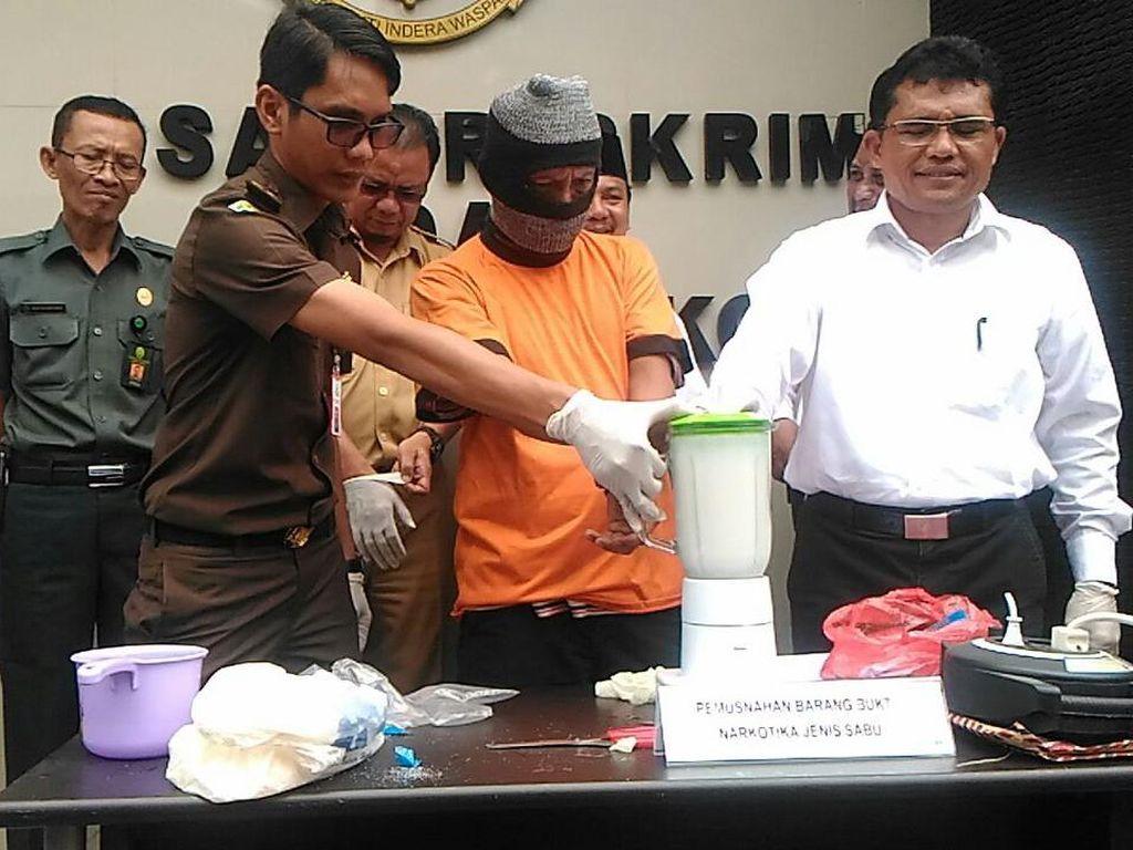 Polres Tangerang Musnahkan Sabu Senilai Rp 500 juta