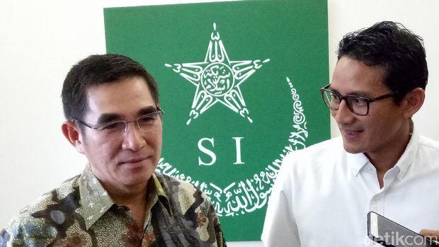 Sandiaga bertemu Ketum Syarikat Islam Hamdan Zoelva /