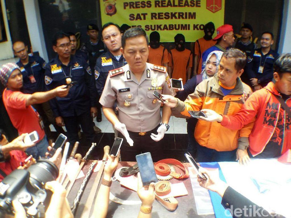Serang Warga, 4 Anggota Geng Motor Diamankan Polres Sukabumi