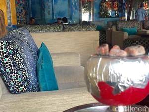 Rombongan Raja Salman Bersantai di Shisha Cafe Legian
