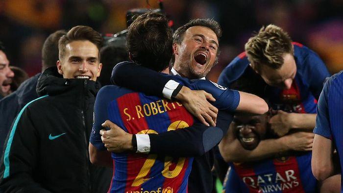 Pelatih Barcelona Luis Enrique (Foto: REUTERS/Albert Gea)