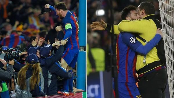 Barca Lolos Dramatis, Messi Ucapkan Terima Kasih kepada Fans