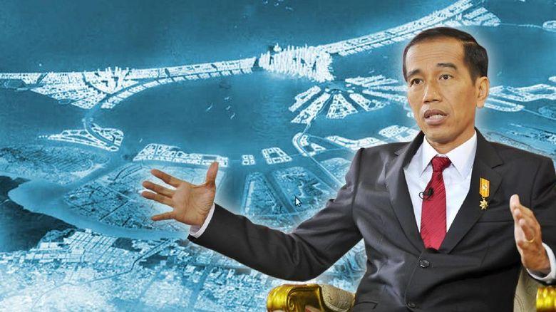 Konsep Tanggul Laut Raksasa Jokowi: Ada Pulau Buatan dan Jalan Tol