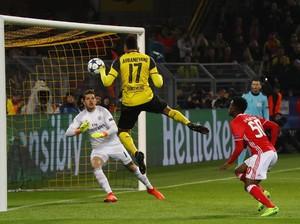 Dortmund Sementara Memimpin 1-0 dari Benfica
