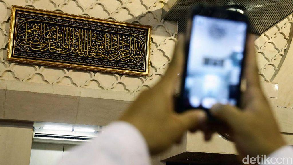 Potongan Kiswah dari Raja Salman Dipajang di Istiqlal