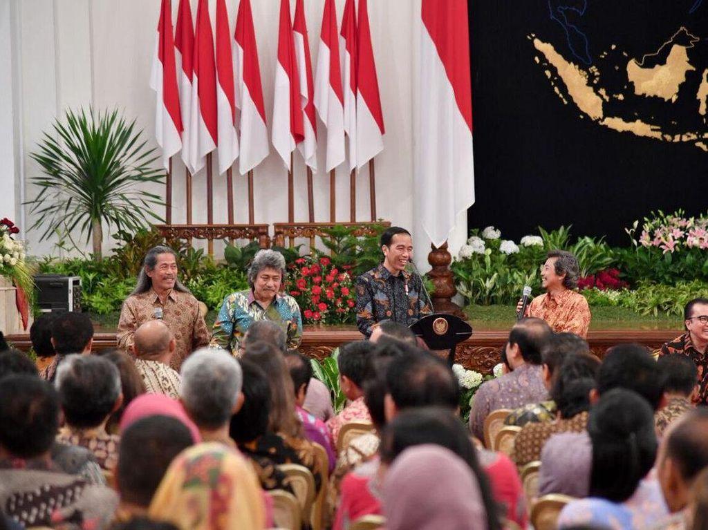 Ungkapan Kebahagiaan Jokowi Bertemu Seniman di Hari Musik Nasional