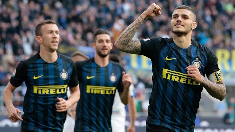 Icardi dan Banega Hat-trick, Inter Hajar Atalanta 7-1