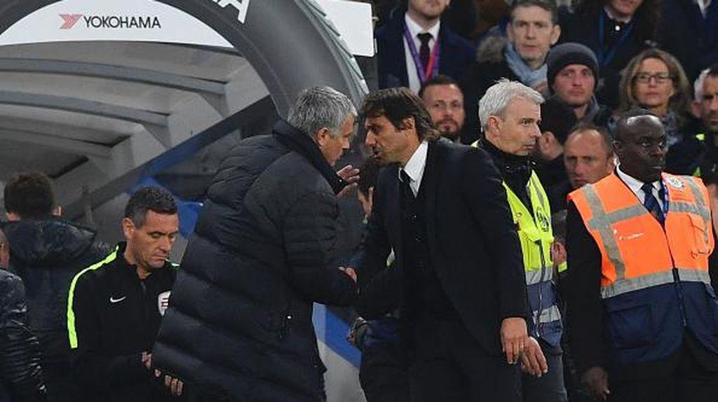 Conte dan Mourinho Kompak Tak Mau Ungkit Pertikaian Masa Lalu
